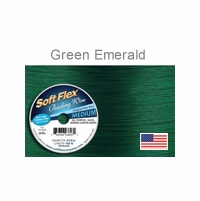 Soft Flex Wire: Emerald Green .019 Diameter 49 Strd 30FT