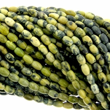 South China Jade 4x6mm Oval Beads 16 inch Strand