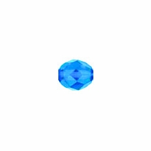 3mm Capri Blue Czech Fire Polished Round Glass Beads (50PK)