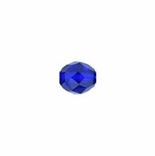 3mm Cobalt Czech Fire Polished Round Glass Beads (50PK)