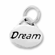 Silver Finish Pewter Message Charm DREAM (1pc)