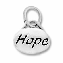 Silver Finish Pewter Message Charm HOPE (1pc)