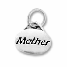 Silver Finish Pewter Message Charm MOTHER (1pc)