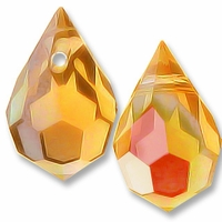 Czech 6x10mm Teardrop Topaz AB Beads (1PR)