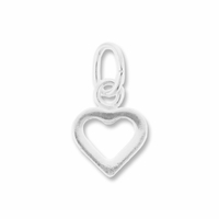 Sterling Silver Small Open Heart Charm (1PC)