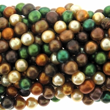 Multi-Color 8-9mm Freshwater Pearl 16 Bead Strand