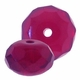 Fucshia Gemstone Donut 11/7mm (12PK)