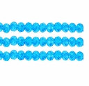 Light Aqua AB 3x4mm Faceted  Crystal  Rondelle Beads 11.8 Inch Strand