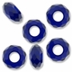MIOVI™ Glass Crystal Cut Large Hole Beads no Grommets 14x8mm Cobalt (6PK)