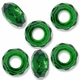 MIOVI™ Glass Crystal Cut Large Hole Beads no Grommets 14x8mm Emerald (6PK)