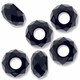 MIOVI™ Glass Crystal Cut Large Hole Beads no Grommets 14x8mm Jet (6PK)