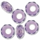 MIOVI™ Glass Crystal Cut Large Hole Beads no Grommets 14x8mm Lt Amethyst (6PK)
