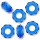 MIOVI™ Glass Crystal Cut Large Hole Beads no Grommets 14x8mm Sapphire (6PK)