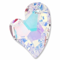 27mm Crystal AB Swarovski Devoted 2U Heart