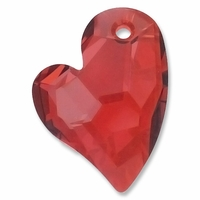 27mm Crystal Red Magma Swarovski  Devoted 2U Heart Pendant