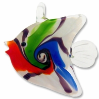 Murano Lampwork Glass 50mm Fish Pendant (1PC)