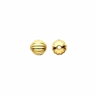 Gold Plated 2.5mm Corrugated Round Beads (50PK)