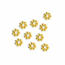 3mm Gold Vermeil Daisy Spacer (10 PK)