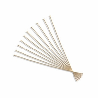 Gold Plated 2 Inch Ultra Thin Head Pin (10PK)
