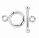 Silver Filled 12mm Round Toggle Clasp