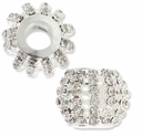 MIOVI� Large Hole Rhinestone 18mm Drum Bead (1PC)