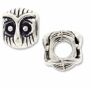 MIOVI� Silver Plated Large Hole 10mm Owl Bead (1PC)