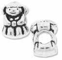 MIOVI� Silver Plated Large Hole 13mm Cute Girl Bead (1PC)