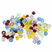 4mm Mixed Bicone Crystal Beads Loose (50PK)