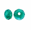 Majestic Crystal� Green AB 3x4mm 32-Facet Crystal  Rondelle Beads (50PK)