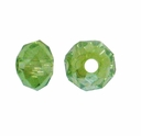 Majestic Crystal� Olivine AB 3x4mm 32-Facet Crystal  Rondelle Beads (50PK)