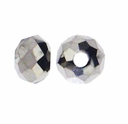Majestic Crystal� Platinum 3x4mm 32-Facet Crystal Rondelle Beads (50PK)