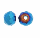 Majestic Crystal� Metallic Blue 3x4mm 32-Facet Crystal Rondelle Beads (50PK)