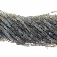 Labradorite Rectangle 4x9mm Gemstone Beads 14 inch Strand