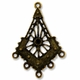 Antiqued Brass 46mm Chandelier  1 to 5 Link (4PK)