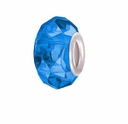 MIOVI� Glass Crystal Cut Large Hole Beads w/SP Grommets 14x9mm Sapphire (6PK)