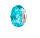 MIOVI� Glass Crystal Cut Large Hole Beads w/SP Grommets 14x9mm Aquamarine (6PK)