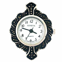 Marcasite Round Watch Face