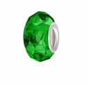 MIOVI™ Glass Crystal Cut Large Hole Beads w/SP Grommets 14x9mm Emerald (6PK)