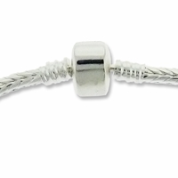 Silver Plated 7.5 Inch Snake Chain with Magnetic Snap Clasp (1PC)