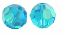 Blue Zircon AB 5000 8mm Swarvoski Crystal Round Beads (1PC)