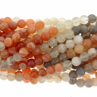 Multi-color Moonstone 6mm Round Beads 16 Inch Strand