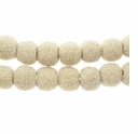 10mm Bone Round Lava Rock Beads 16 Inch Strand
