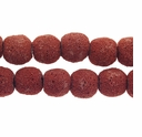 14mm Coral Round Lava Rock Beads 16 Inch Strand
