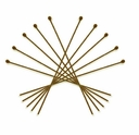 Antique Brass 2 Inch Ball End 21GA Head Pin (100PK)