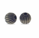 Antiqued Brass 4mm Corrugated Round Beads (10PK)