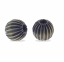 Antiqued Brass 6mm Corrugated Round Beads (10PK)