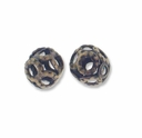 Antiqued Brass 4mm Filigree Round Beads (10PK)