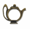 Antiqued Bronze Tea Pot Charm (5PK)