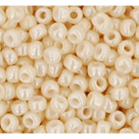 Opaque-Lustered Lt Beige Seed Bead size 11/0