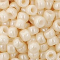 TOHO Seed Bead Size 8/0: Opaque-Lustered Lt Beige (10g)